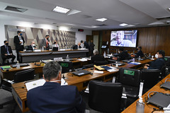 06-05-2021 - Senador Tasso Jereissati participa de oitiva do ex-ministro de Estado da Saúde, Marcelo Queiroga, na CPI da COVID