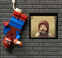 Mary Jane watches as Spiderman battles his deadliest enemy.