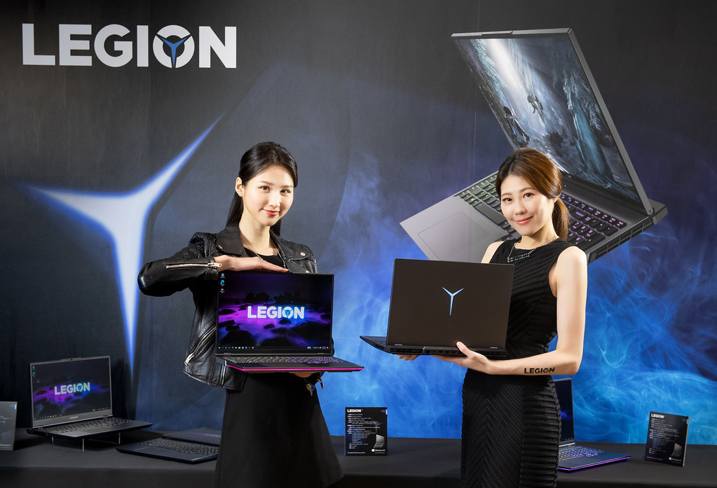 【新聞照片3】全新AMD系列Legion筆電,包括旗艦機款Legion 7、規格頂尖的Legion 5 Pro,和主流玩家首選的Legion 5。