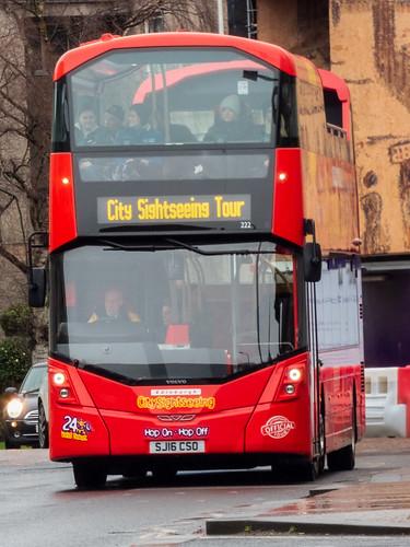 Lothian Buses 222 SJ16 CSO Edinburgh sightseeing bus