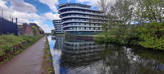 Photo of 10th May 2021.  The Bridgewater Canal at Broadheath, Greater Manchester.