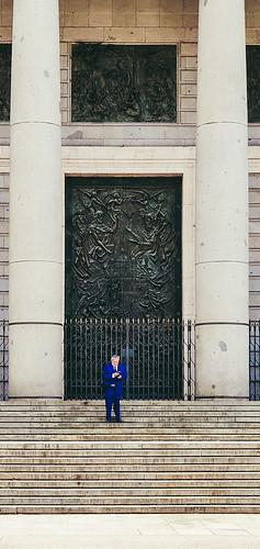 Blue men in Madrid
