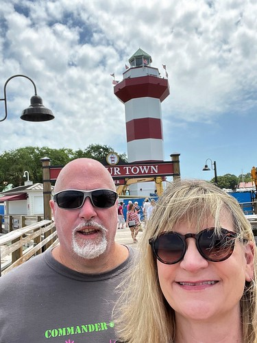 Katdaddy and Coco iwith Harbourtown Lighthouse