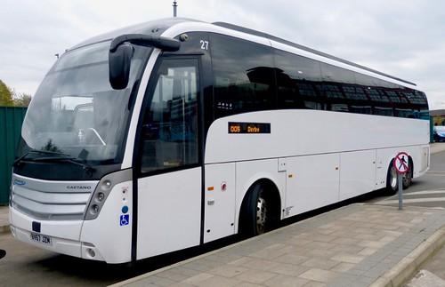 BV67 JZM 'Whippet Coaches', Cambridge '27'. Scania K410EB6 / Caetano Levante 2 on Dennis Basford's railsroadsrunways.blogspot.co.uk'
