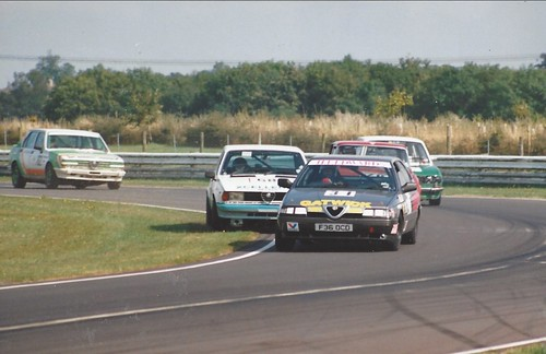 Ben Edwards leads a group into Tower at Castle Combe 1993 (Photo Gavin Powell)