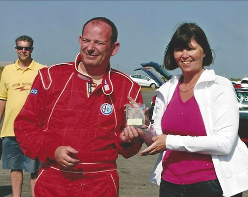 Ian Brrokfield 2nd at Anglesey 200 with Angie Fletcher