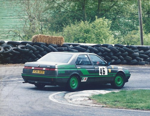 Jane Cheffings at Cadwell hairpin 1994