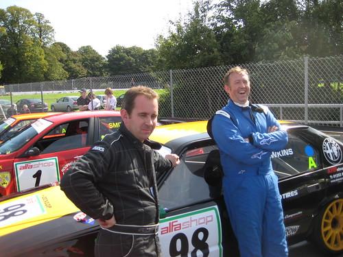 Adie Hawkins and Lee Penn at Oulton