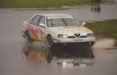 Martin Parsons with 24v 164 at very wet Snetterton