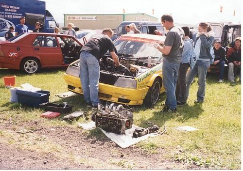 Bit of engine trouble at Pembrey 2004