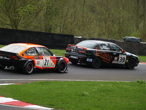 Tim Lewis chases Sarah Heels at Cadwell