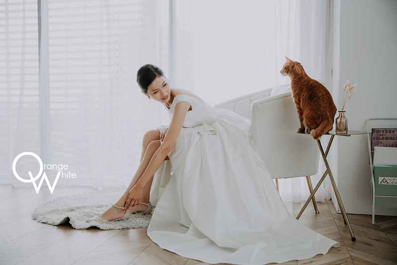 Anita俐婷,Fantasia Wedding Dress, 婚攝,寵物婚紗,寵物寫真,自主婚紗,自助婚紗,婚紗照,貓,Ciao studio 自然光攝影棚,大稻埕,迪化街,橘子白,攝影,工作室,優質推薦,雙北 ,便宜,美式