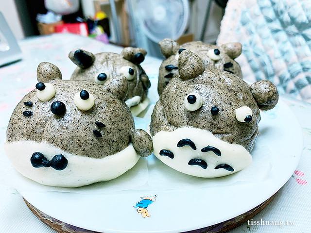 龍貓饅頭做法,龍貓饅頭DIY