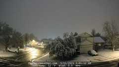 May 11, 2021 - Thornton wakes up to snow. (ThorntonWeather.com)