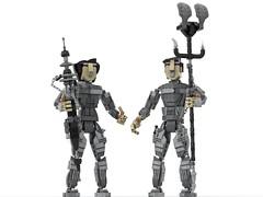 Maud'dib & Chani LEGO MOC