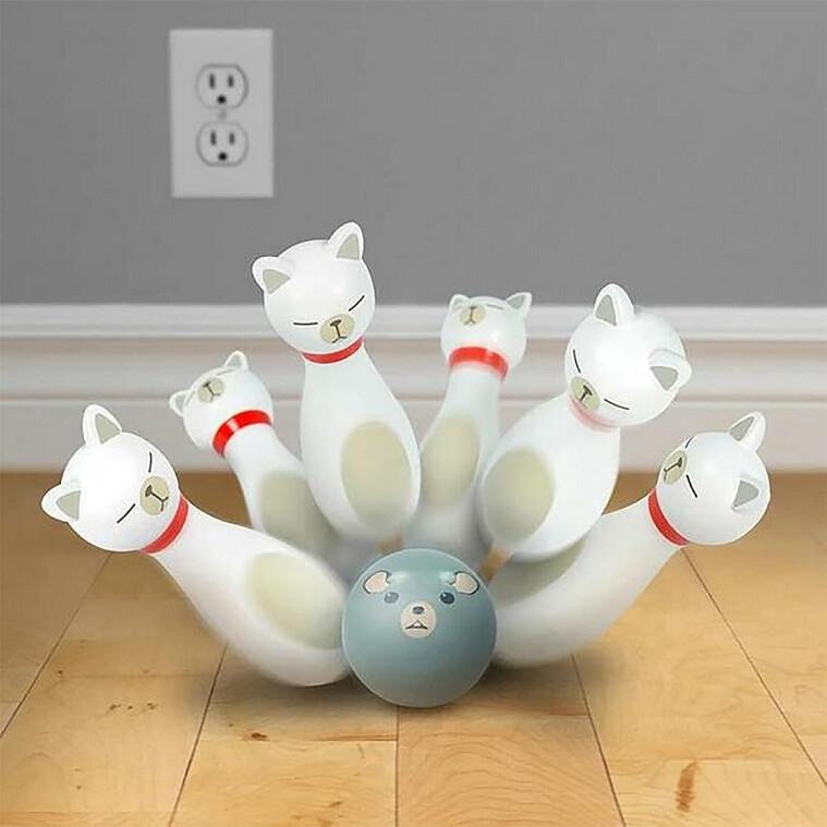 圖四:fred&FRIENDS|貓咪保齡球組|特價716元|原價795元|誠品線上
