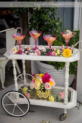 Cart of Flowers and Pink Drinks