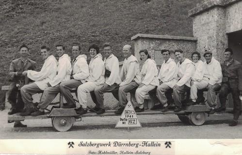 YHA Group, Salzbergwerk, Hallein, Austria - 1961