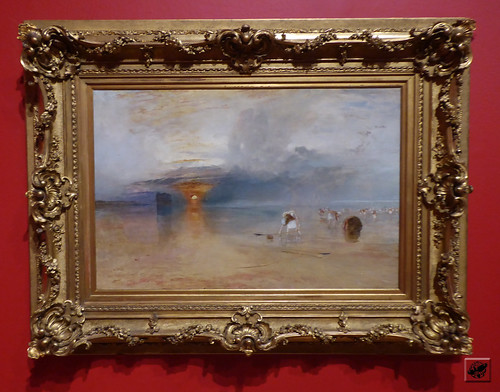 J.M.W. Turner - Calais Sands at Low Water: Poissards Collecting  Baits