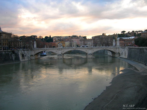 Tramonto romano - Ponte Sant'Angelo, Roma