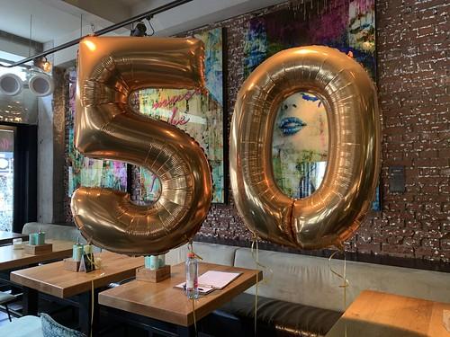Folieballon Cijfer 50 Verjaardag Abraham Sarah Wijnbar 1NUL8 Rotterdam