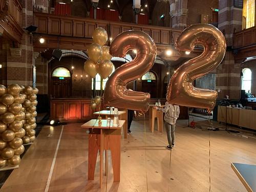 Folieballon Cijfer 22 Debatpodium Arminius Rotterdam