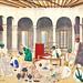 Fabrication de châles du Cachemire (musée Guimet, France)