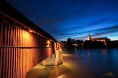 Holzbrücke und St. Fridolinsmünster