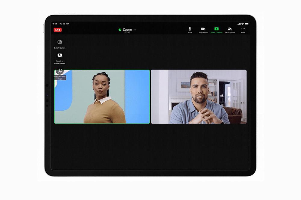【Zoom-新聞照片1】Zoom-全新-iPad-Pro-功能上線!推出「人物居中」和-48人同框,一手掌握所有遠距會議