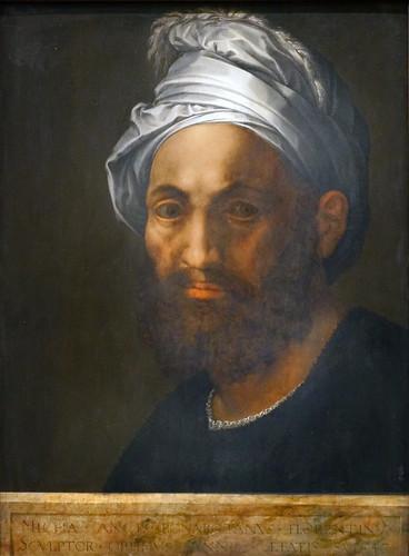 Portrait de Michel-Ange par B. Bandinelli (musée du Louvre, Paris)