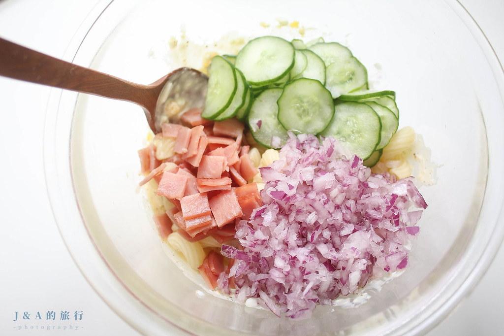 【食譜】日式通心粉沙拉。零失敗清爽開胃涼拌小菜 @J&A的旅行