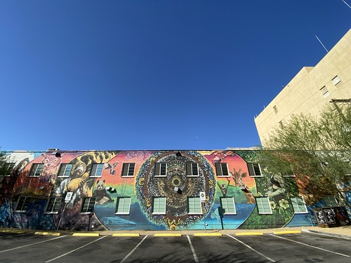 Giraffe Mural, Downtown Las Vegas, May 2021