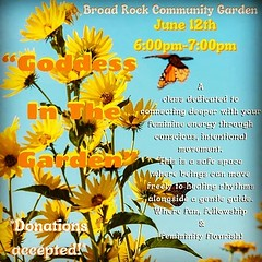 #repost @omni.goddess ・・・ Gorgeous Rising Beautiful Souls 🌞 As The Weather Starts Heating Up & The Sun Shines More, The Urge To DANCE Is In The Air! Grab Your Matt Or Blanket & Come Flow With Me Down At @broadrock_communitygarden Saturday Ju