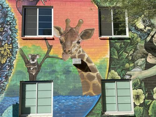 Giraffe, Downtown Las Vegas, May 2021