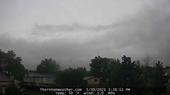 May 30, 2021 - A dark, dreary day. (ThorntonWeather.com)
