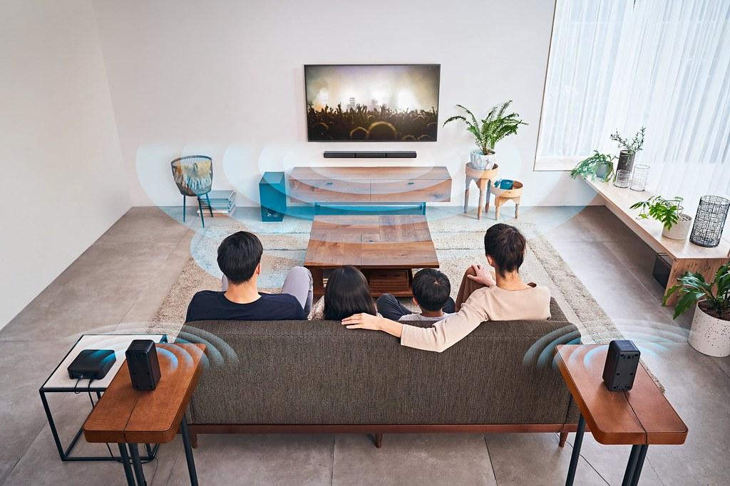 圖 2) HT-S40R實體5.1 聲道提升居家娛樂更逼真的視聽體驗