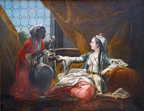 La Sultane d'après C. Van Loo (Musée des arts décoratifs, Paris)