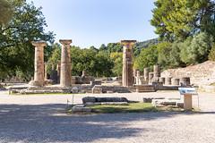 Temple of Hera in Olympia, Greece
