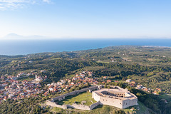 Aerial view of Kastro on Peloponnese, Greece
