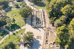 The modern Olympic flame is ignited at the site of ancient Games, Olympia