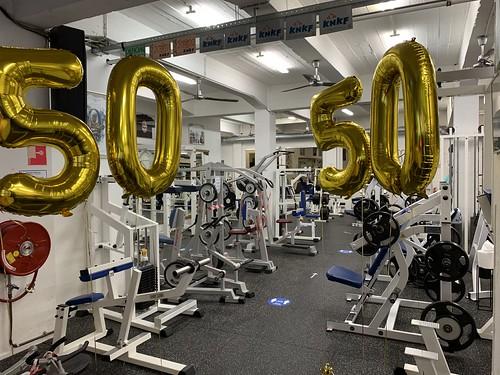 Folieballon Cijfer 50 Verjaardag Classic Gym Rotterdam