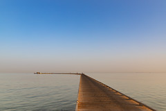 Wooden pier in the Red Sea of Soma Bay, Egypt