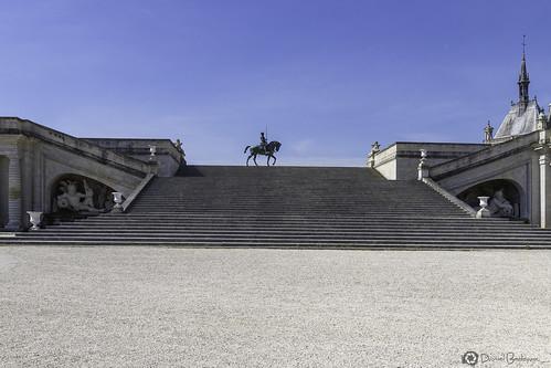 Chateau de Chantilly-Statue équestre d'Anne de Montmorency