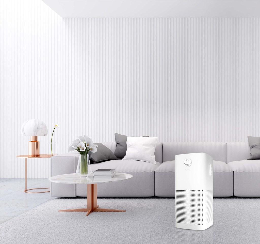 03-CHIMEI智能全淨化空氣清淨機Pro,進風循環淨化功能快速循環空氣360°全淨化,過濾99.9% PM2.5居家防護好安心