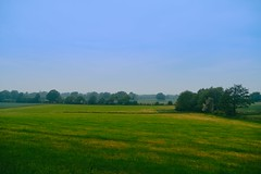 Evening view of the landscape with haze in the distance | 6th of June | Schmalensee - Segeberg District - Schleswig-Holstein - Germany