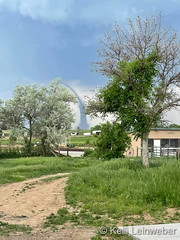 June 7, 2021 - A landspout tornado touches down east of Firestone.  (Kelli Leinweber)