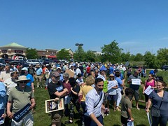 Attendees at the rally