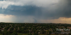 June 7, 2021 - The Firestone tornado from 100 feet and 15 miles away. (Tony's Takes)