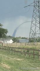 June 7, 2021 - A stunning landspout tornado as seen from Greeley. (Nina Evagelou)