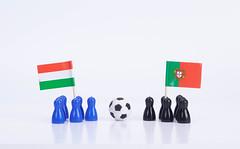 Football match Hungary Vs. Portugal